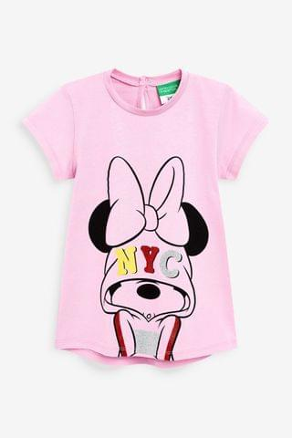 KIDS Benetton Pink Minnie Mouse T-Shirt