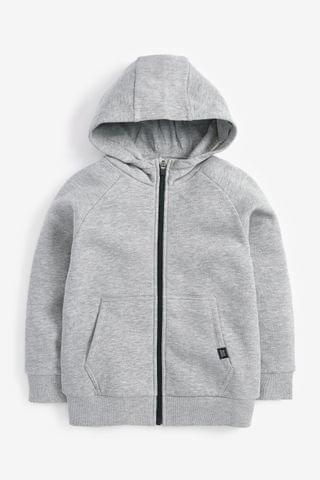 KIDS Grey Zip Through Hoody (3-16yrs)