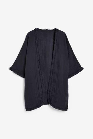 WOMEN Navy Crinkle Cover Up