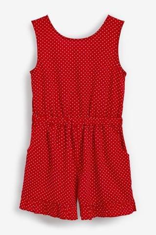 KIDS Red Spot Printed Playsuit (3-16yrs)