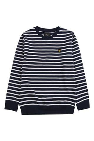 KIDS Lyle & Scott Breton Stripe LB Crew Sweater