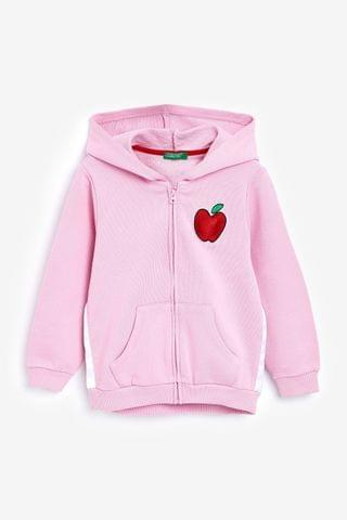 KIDS Benetton Pink Apple Zip Through Hoody