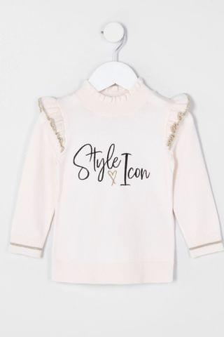 KIDS River Island Pink Style Icon Frill Top