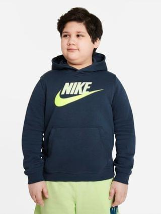 KIDS Big Kids' (Boys') Pullover Hoodie (Extended Size) Nike Sportswear Club Fleece