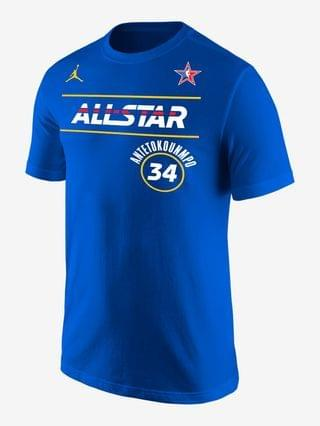MEN Jordan NBA Player T-Shirt Giannis Antetokounmpo All-Star