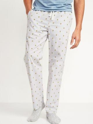 MEN Printed Poplin Pajama Pants for Men
