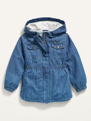 KIDS Hooded Twill Utility Scout Jacket for Toddler Girls