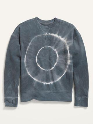 KIDS Oversized Vintage Specially-Dyed Gender-Neutral Sweatshirt for Kids