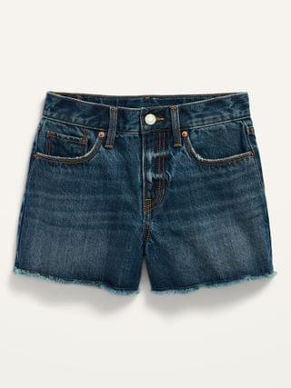KIDS Extra High-Waisted Sky-Hi Cut-Off Jean Shorts for Girls