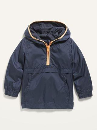 KIDS Hooded Half-Zip Windbreaker Jacket for Toddler Boys