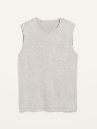 MEN Vintage Garment-Dyed Gender-Neutral Sleeveless Tee for Adults