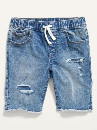 KIDS Karate Built-In Flex Max Ripped Jean Jogger Shorts for Boys