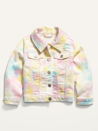KIDS Tie-Dye Jean Trucker Jacket for Toddler Girls
