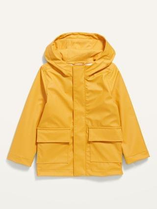 KIDS Water-Resistant Hooded Rain Jacket for Toddler Boys