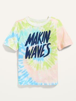 "KIDS Tie-Dye ""Makin' Waves"" Graphic Tee for Toddler"