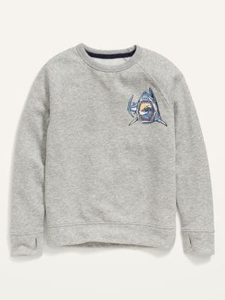 KIDS Vintage Shark-Graphic Pullover Sweatshirt for Boys