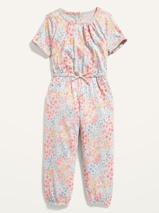 KIDS Printed Jersey Jumpsuit for Toddler Girls