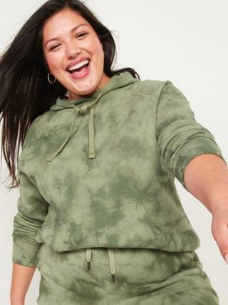 WOMEN Vintage Specially Dyed Plus-Size Pullover Hoodie