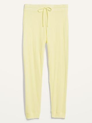 WOMEN High-Waisted Thermal-Knit Plus-Size Jogger Lounge Pants