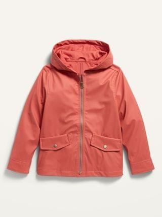 KIDS Water-Resistant Hooded Rain Jacket for Girls