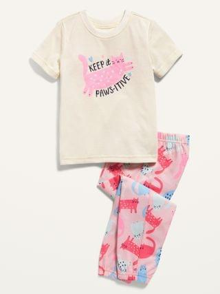 KIDS Loose-Fit Graphic Pajama Set for Toddler & Baby