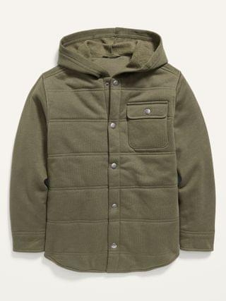 KIDS Quilted Fleece Shirt Jacket for Boys