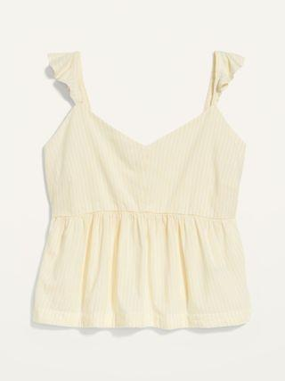 WOMEN Soft-Woven Flutter-Sleeve Plus-Size Cami Pajama Top