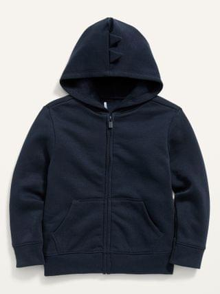 KIDS Solid Critter Zip Hoodie for Toddler Boys