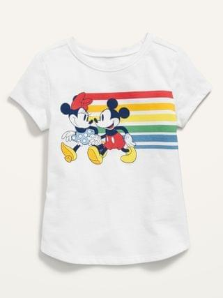 KIDS Unisex Disney Minnie and Mickey Mouse Graphic Tee for Toddler