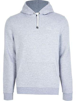 MEN Big & Tall grey RI slim fit hoodie