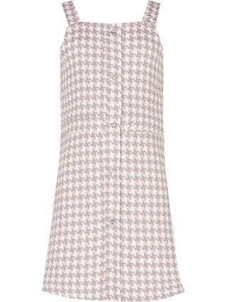 KIDS purple gingham pinny dress