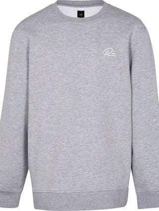 MEN Big & Tall grey slim fit sweatshirt