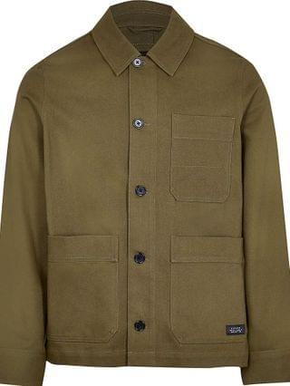 MEN Big & Tall khaki long sleeve jacket