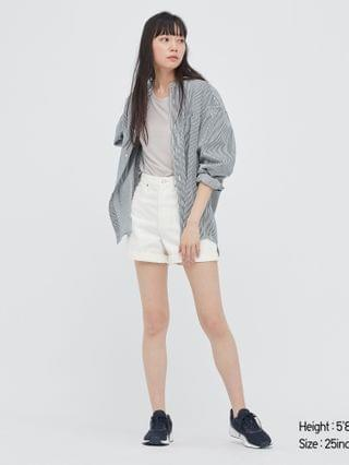 WOMEN high-rise denim shorts