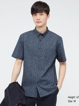 MEN extra fine cotton broadcloth short-sleeve shirt