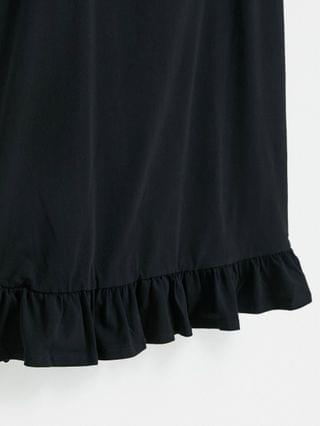 WOMEN Curve strappy sundress with pep hem in black