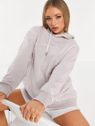 WOMEN New Balance logo hoodie in lilac