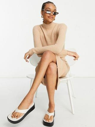 WOMEN Ted Baker conniey knitted dress in camel