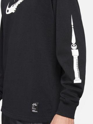 MEN Nike oversized fit graphic long sleeve t-shirt in black