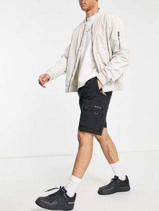 Nicce meru cargo shorts in black