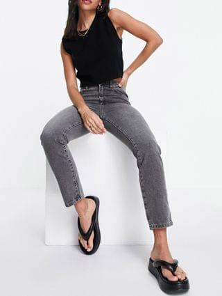 WOMEN French Connection cut off jean in gray wash