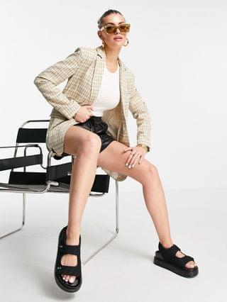 WOMEN Fashion Union long line relaxed blazer in vintage check - part of a set