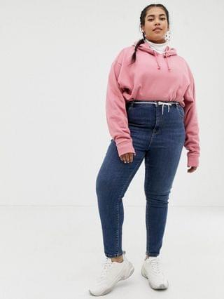 WOMEN COLLUSION Plus x001 skinny jeans in mid wash