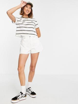 WOMEN Vans Surf Supply Roll Out stripe t-shirt in white
