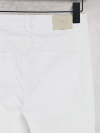 WOMEN Only royal skinny jeans with high waist in white
