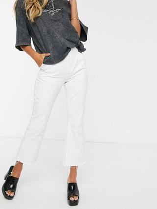 WOMEN Reclaimed Vintage inspired The '85 cropped flare jean in white