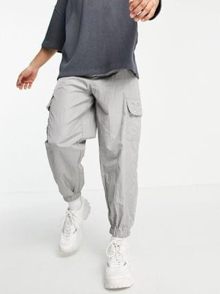 Unrvlld Spply oversized tapered cargo sweatpants in nylon