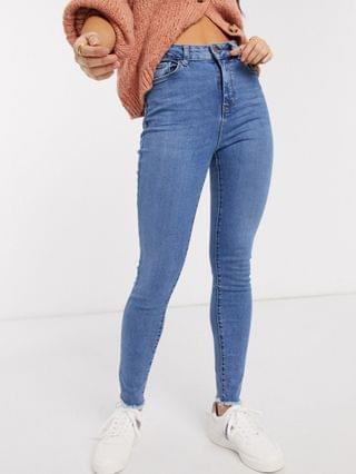 WOMEN New Look shape and lift skinny jean in mid blue