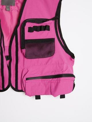 two-piece cropped vest in pink