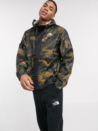 The North Face Yung Blade wind jacket in black waxed camo